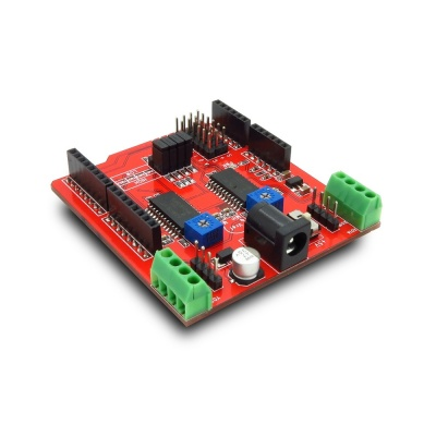 Arduino dual step motor driver shield itead wiki for Arduino servo motor shield