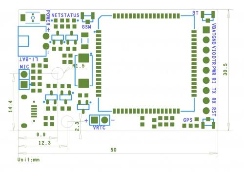SIM808 GSM/GPRS/GPS MODULE SIMCOM (Itead IM141125004) GSM/GPRS Quad